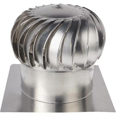 "Ventamatic Cool Attic 14"" Aluminum Mill Wind Turbine Attic Vent"