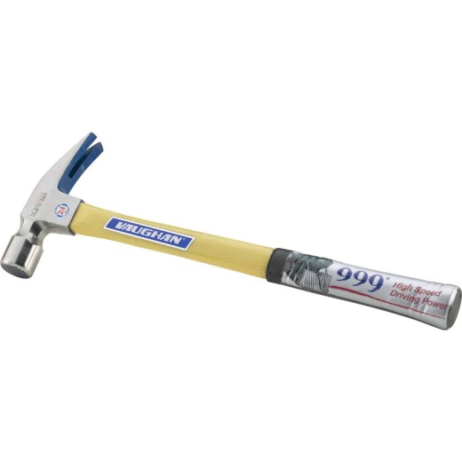 Vaughan 999 24 Oz. Milled-Face Rip Claw Hammer with Fiberglass Handle