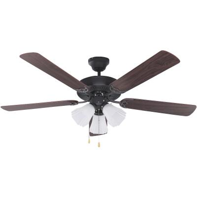 Home Impressions Sherwood 52 In. Oil Rubbed Bronze Ceiling Fan with Light Kit