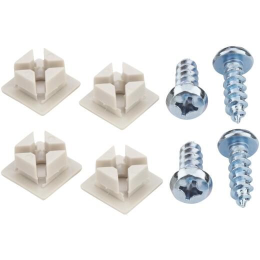 Custom Accessories White License Plate Fasteners