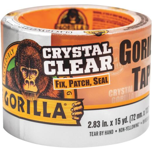 Gorilla 2.83 In. x 15 Yd. Crystal Clear Duct Tape, Clear