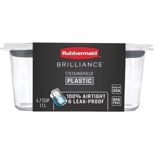 Rubbermaid Brilliance 4.7 C. Clear Rectangle Food Storage Container
