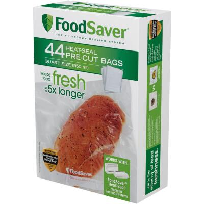 Food Saver 1 Quart Vacuum Sealer Bag, 44 Pack