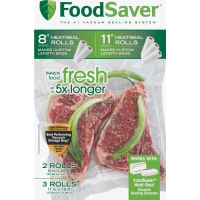 Food Saver Make Your Own Vacuum Sealer Bags, 5 Rolls