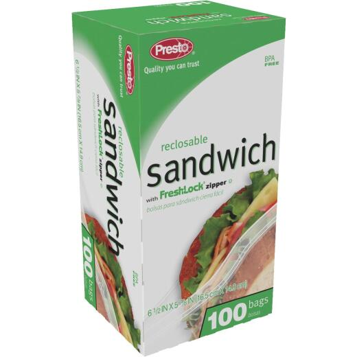 Presto Reclosable Sandwich Bag (100-Count)