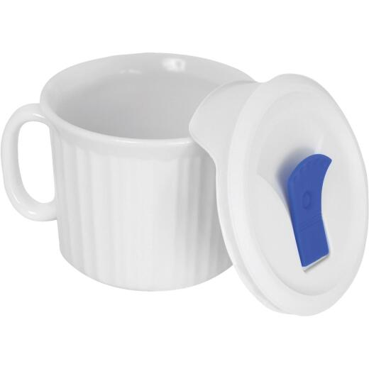Corningware French White 20 Oz. Stoneware Mug with Lid