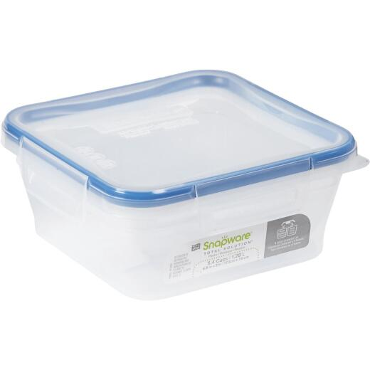 Snapware Total Solution 5.4 Cup Plastic Square Food Storage Container with Lid