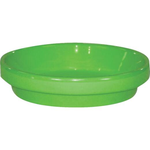 Ceramo Spring Fever 8 In. Bright Green Clay Flower Pot Saucer