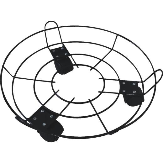 Best Garden 13 In. Coated Metal Wire Rolling Plant Caddy