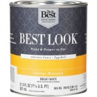 Best Look Latex Paint & Primer In One Eggshell Interior Wall Paint, Bright White, 1 Qt. Image 1