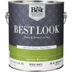Best Look Latex Paint & Primer In One Semi-Gloss Interior Wall Paint, Bright White, 1 Gal. Image 1