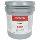 Economy Latex Flat Interior Wall Paint, White-Pastel Base, 5 Gal. Image 1
