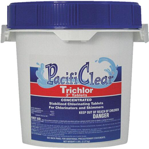 PacifiClear 3 In. 5 Lb. Trichlor Chlorine Tablet